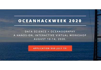 OceanHackWeek 2020 slider